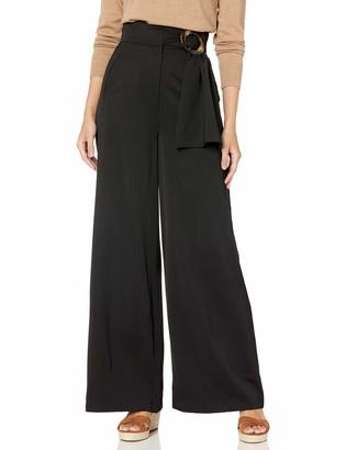 C/Meo Women's Deserving Highwaisted Wide Leg Belted Trouser Pant