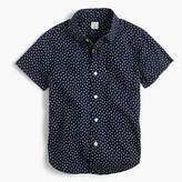 J.Crew Boys' short-sleeve Secret Wash shirt in tiny stars