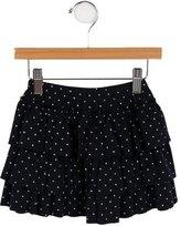 Petit Bateau Girls' Polka Dot Print A-Line Skirt