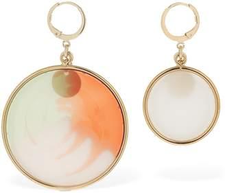 Missoni Asymmetrical Resin Disc Earrings