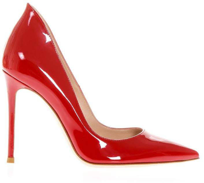 Gianvito Rossi Ellipsis Red Patent Leather Pumps