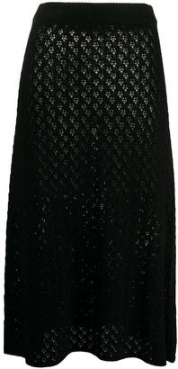 Jil Sander Crochet Knit Midi Skirt