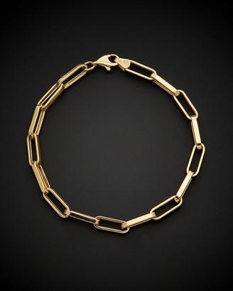 Italian Gold 14K Polished Paperclip Chain Bracelet