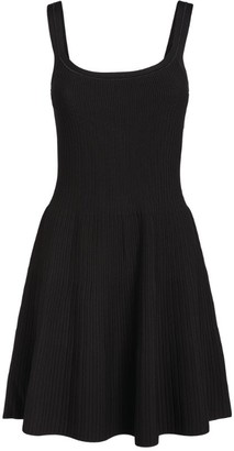 Theory Pleated Knit Mini Dress