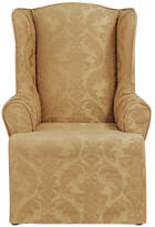 Sure Fit Matelasse Damask T-Cushion Wingback Slipcover