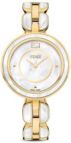 Fendi My Way Yellow Gold Tone Stainless Steel Watch with Fox Fur Glamy, 36mm