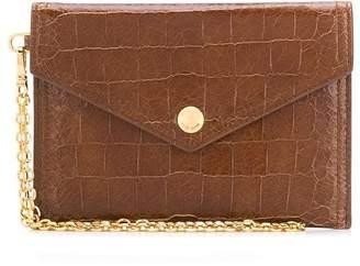 Miu Miu crocodile-effect envelope purse