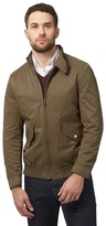 J By Jasper Conran Big And Tall Khaki Cedar Harrington Jacket