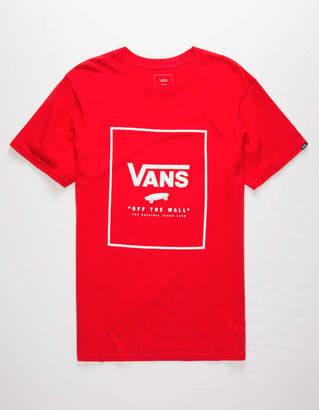 Vans Print Box Red Mens T-Shirt