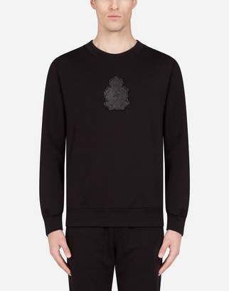 Dolce & Gabbana Jersey Sweater With Rubberized Logo Patch