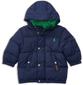 Ralph Lauren Infant Boys' Matte Finish Hood Down Puffer Jacket - Sizes 3-24 Months