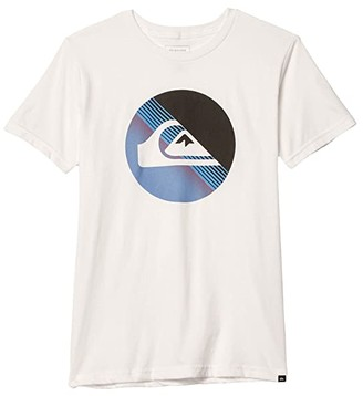 Quiksilver Slab Logo Screen Tee (Big Kids) (White) Boy's Clothing