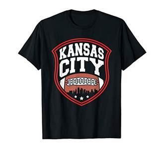 Kansas City Cityscape Football Graphic T-Shirt
