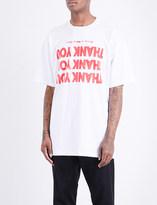 Raf Simons Thank you cotton-jersey T-shirt