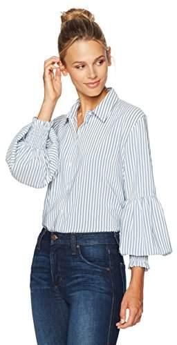 Ella Moon Women's Rana Long Sleeve Tunic Shirt with Smocked Cuff