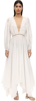 Azulu Tortugas Cotton Eyelet Lace Maxi Dress