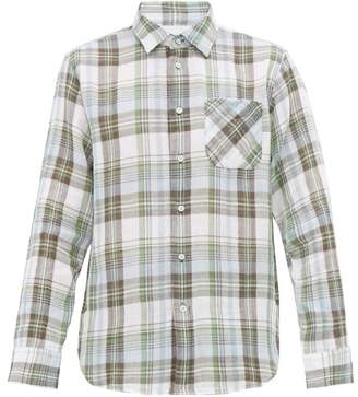 Rag & Bone Fit 3 Beach Checked Cotton Shirt - Mens - Green Multi
