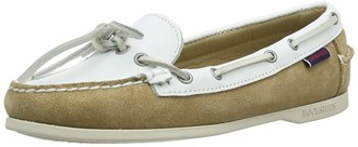 Sebago Women's Nina Suede Lea W 71113QW Boat Shoes Multicolour (Ltbeige-White A2a) 3 UK