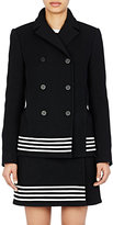 Paco Rabanne WOMEN'S STRIPED DOUBLE-BREASTED COAT-BLACK SIZE 38 FR