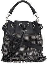 Saint Laurent Small Stud Fringe Bucket Shoulder Bag