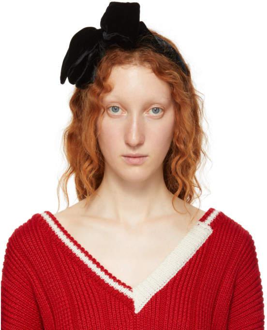 Miu Miu Black Velvet Headband