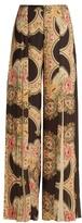 Vilshenko Elayna floral-print wide-leg pleated trousers