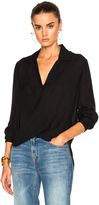 L'Agence Rita Drape Front Blouse
