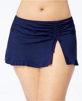 Profile by Gottex Plus Size Tutti Frutti Slit Swim Skirt Women's Swimsuit