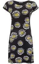 Select Fashion Fashion Womens Black Daisy Tunic Dress - size 6