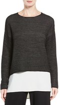 Eileen Fisher Women's Boxy Silk Blend Top