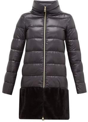 Herno Faux Fur Trim Down Filled Coat - Womens - Black