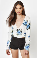 KENDALL + KYLIE Kendall & Kylie Long Sleeve Tie Front Top
