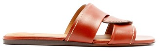 Chloé Candice Square-toe Leather Slides - Womens - Tan