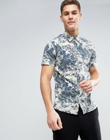 Jack and Jones Vintage Short Sleeve Shirt with All Over Print