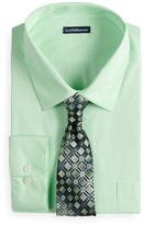 Croft & Barrow Big & Tall Classic-Fit Striped Dress Shirt and Patterned Tie Boxed Set