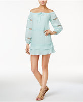 GUESS Karena Off-The-Shoulder Peasant Dress
