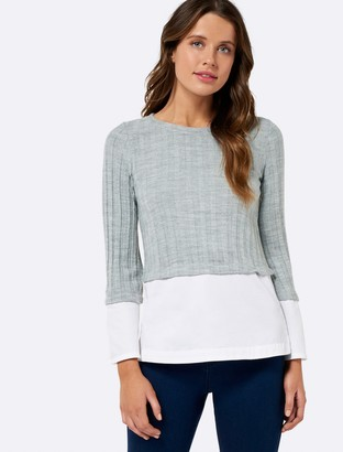 Forever New Milania Jumper With Flare Sleeve - Grey - xs