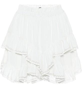 Isabel Marant Leocadia high-rise crApe shorts