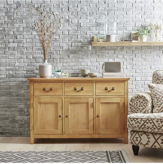 Luxe Collection London Oak Ready Assembled Large Sideboard