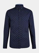 Burton Burton Blend Printed Navy Cotton Shirt*