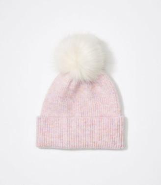 LOFT Rainbow Pom Pom Hat