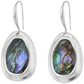 Robert Lee Morris Abalone & Silver Stone Drop Earrings