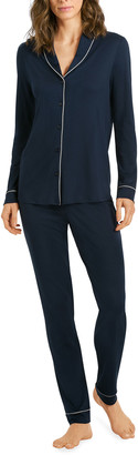 Hanro Natural Comfort Long-Sleeve Pajama Set