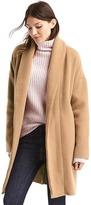 Plush shawl collar coat