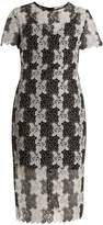 Diane von Furstenberg Bi-colour lace dress