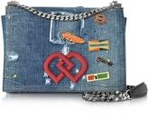 DSQUARED2 DD Distressed Denim Shoulder Bag