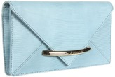 Z Spoke Zac Posen Evening Envelope Clutch (Aqua Lizard) - Bags and Luggage