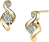 Sirena Juno Lucina 1/4 CT. T.W. Diamond 14K Yellow Gold Swirl Stud Earrings