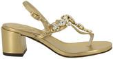 Emanuela Caruso Crystal Detail Sandals
