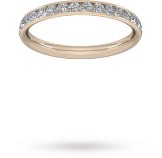 Goldsmiths 0.44 Carat Total Weight Half Channel Set Brilliant Cut Diamond Wedding Ring In 9 Carat Rose Gold